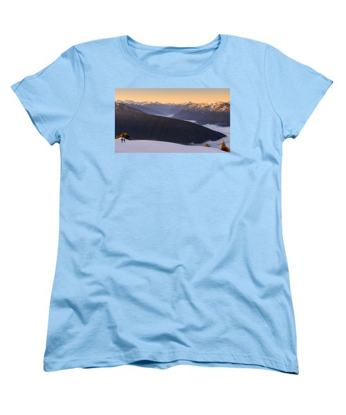 Women's T-Shirt (Standard Cut) featuring the photograph Sunrise Above The Clouds by Dan Mihai