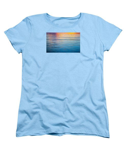 Sunrise Abstract On Calm Waters Women's T-Shirt (Standard Cut) by Parker Cunningham