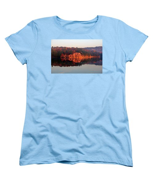 Women's T-Shirt (Standard Cut) featuring the photograph Sunrise And Harmony by Debbie Oppermann