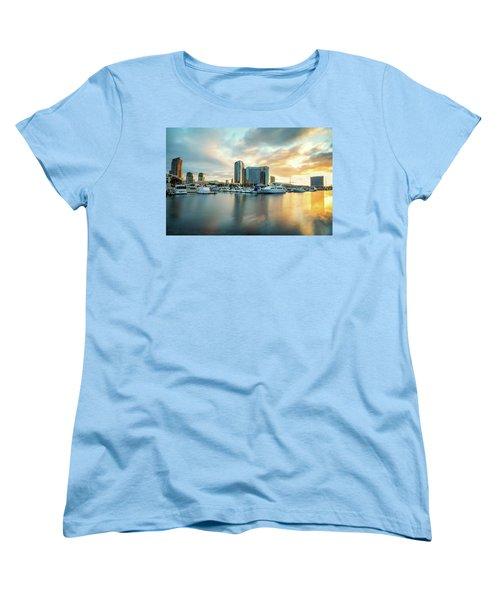 Sunrise At Embarcadero Women's T-Shirt (Standard Cut) by Joseph S Giacalone