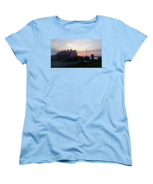 Sunrise At Hooper's Crab House Women's T-Shirt (Standard Cut)