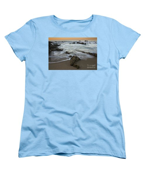 Women's T-Shirt (Standard Cut) featuring the photograph Sunrise At Laguna Beach by Keith Kapple