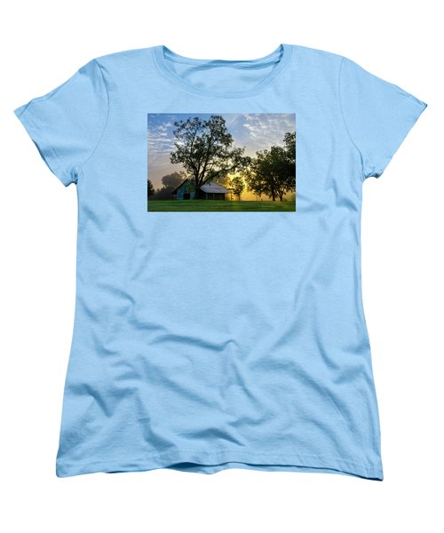 Women's T-Shirt (Standard Cut) featuring the photograph Sunrise At The Farm by George Randy Bass