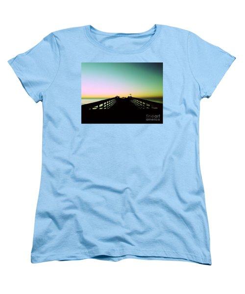 Sunrise At The Myrtle Beach State Park Pier In South Carolina Us Women's T-Shirt (Standard Cut) by Vizual Studio
