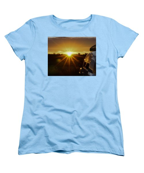 Sunrise And My Ride Women's T-Shirt (Standard Cut) by Jeremy McKay