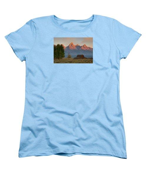 Women's T-Shirt (Standard Cut) featuring the photograph Sunrise In Jackson Hole by Steve Stuller
