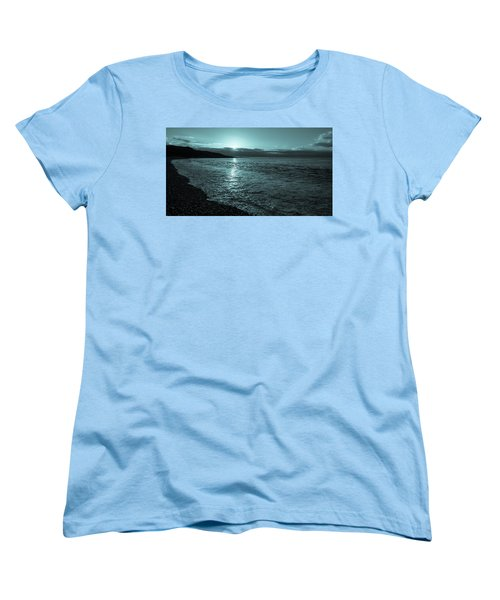 Women's T-Shirt (Standard Cut) featuring the photograph Sunrise In Stonehaven B-w by Sergey Simanovsky