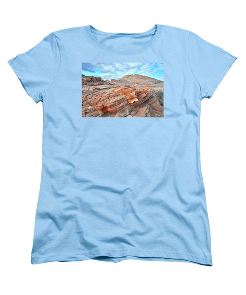 Sunrise On Sandstone In Valley Of Fire Women's T-Shirt (Standard Cut) by Ray Mathis
