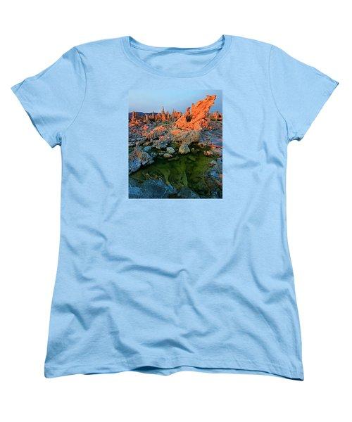 Sunrise On Tufa 2 Women's T-Shirt (Standard Cut) by Sean Sarsfield