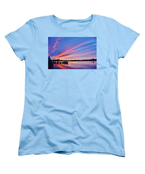 Sunrise Reflecting Women's T-Shirt (Standard Cut) by Diane Alexander