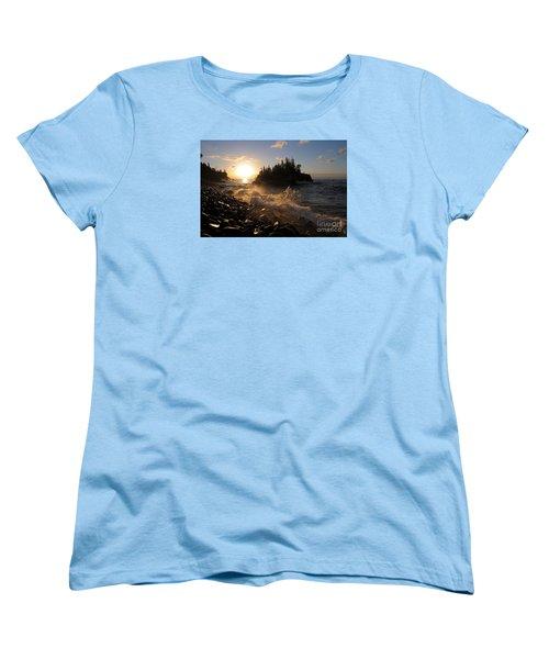 Women's T-Shirt (Standard Cut) featuring the photograph Sunrise Waves by Sandra Updyke