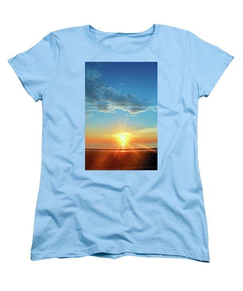 Sunrise With Flare Women's T-Shirt (Standard Cut) by David Stasiak