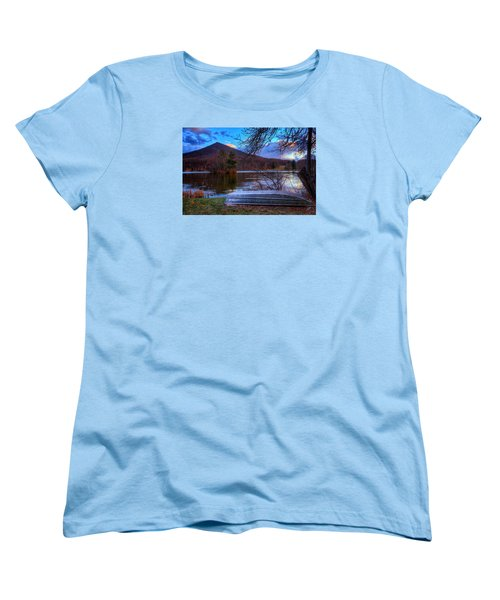 Sunset At Abbott Lake Women's T-Shirt (Standard Cut) by Steve Hurt
