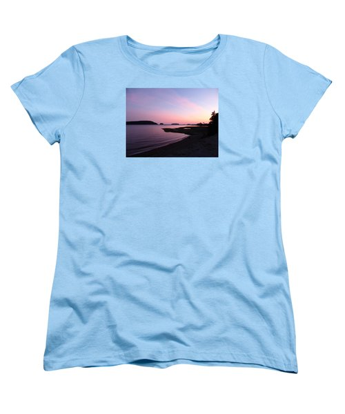 Sunset At Five Islands Women's T-Shirt (Standard Cut) by Joel Deutsch