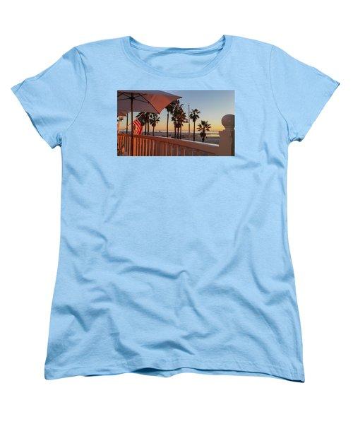 Sunset At Shutters Women's T-Shirt (Standard Cut) by Mark Barclay