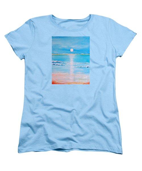 Sunset At The Beach Women's T-Shirt (Standard Cut) by Teresa Wegrzyn