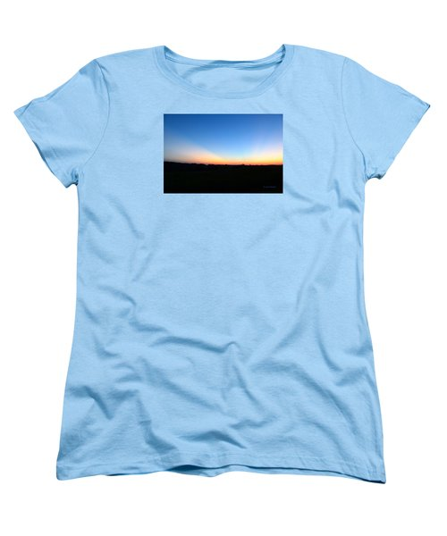 Women's T-Shirt (Standard Cut) featuring the digital art Sunset Blue by Jana Russon