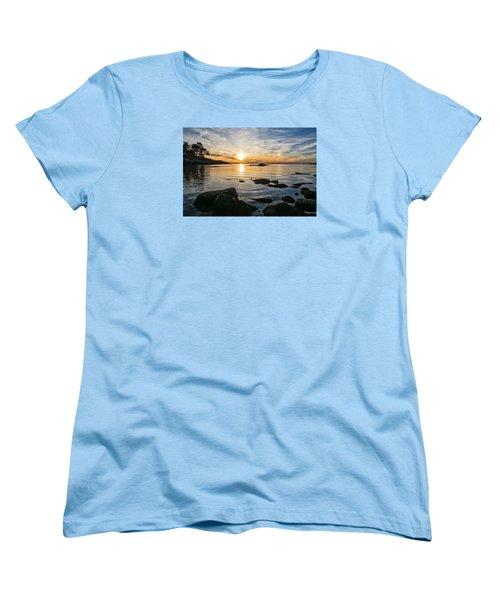 Sunset Cove Gloucester Women's T-Shirt (Standard Cut) by Michael Hubley