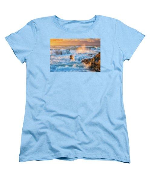 Women's T-Shirt (Standard Cut) featuring the photograph Sunset Fury by Darren White