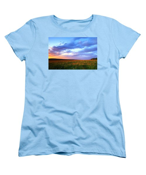 Sunset In Ithaca South Hill Women's T-Shirt (Standard Cut) by Paul Ge