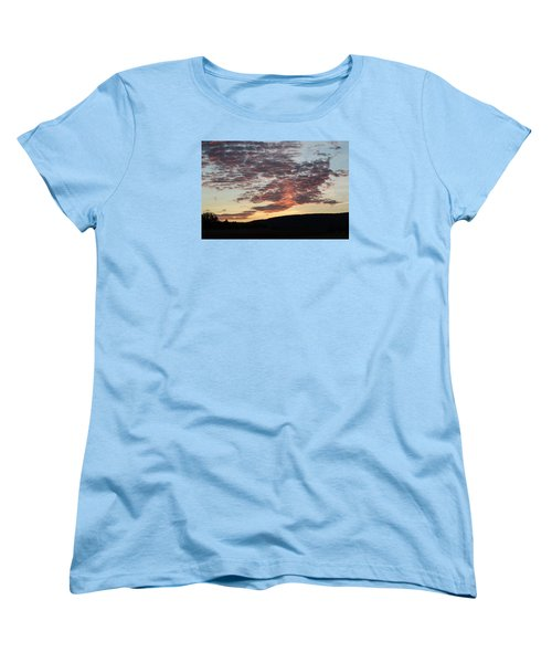 Sunset On Hunton Lane #9 Women's T-Shirt (Standard Cut) by Carlee Ojeda