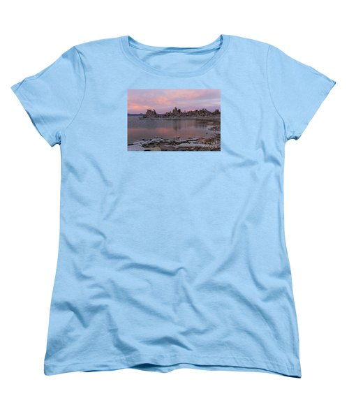Women's T-Shirt (Standard Cut) featuring the photograph Sunset On Mono Lake by Sandra Bronstein
