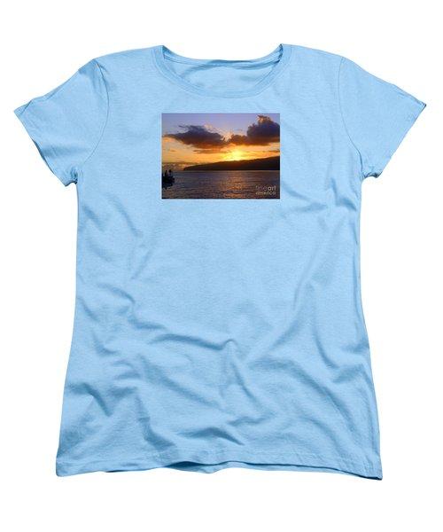 Sunset Over Reunion Island Women's T-Shirt (Standard Cut) by John Potts