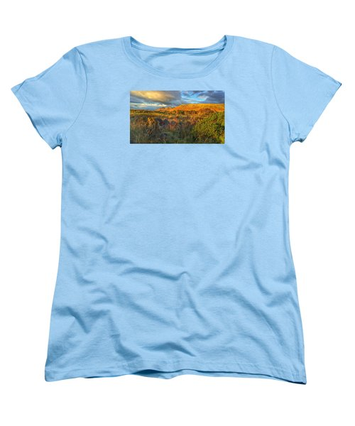 Sunset Over The Campsie Fells Women's T-Shirt (Standard Cut) by RKAB Works