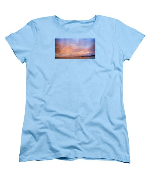 Sunset Rainbow Women's T-Shirt (Standard Cut) by Steve Siri
