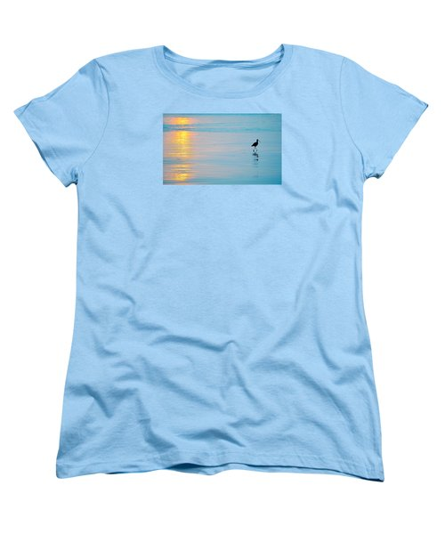 Sunset Stroll Women's T-Shirt (Standard Cut) by AJ  Schibig