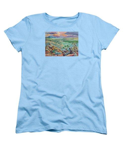 Sunset View From The Cedar Breaks Women's T-Shirt (Standard Cut) by Dawn Senior-Trask