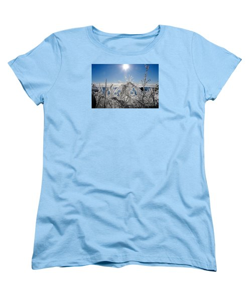 Sunshine And Ice Women's T-Shirt (Standard Cut) by Sandra Updyke