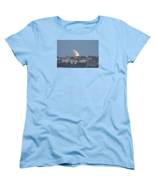 Super Moon Rise Women's T-Shirt (Standard Cut) by Loriannah Hespe