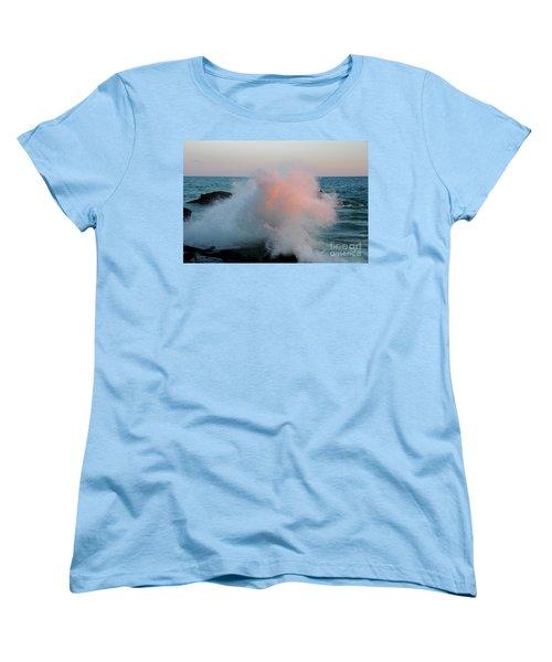 Superior Sundown Splash Women's T-Shirt (Standard Cut) by Sandra Updyke