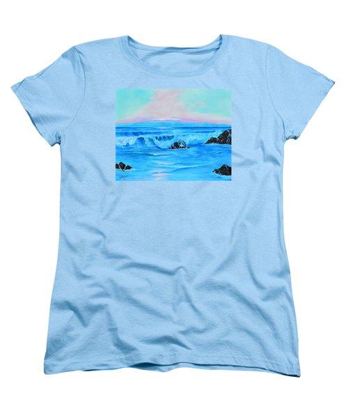 Surf At Sunset  Women's T-Shirt (Standard Cut) by Lloyd Dobson