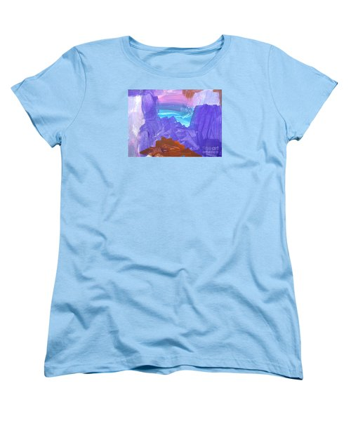 Women's T-Shirt (Standard Cut) featuring the photograph Surf By Hannah by Fred Wilson