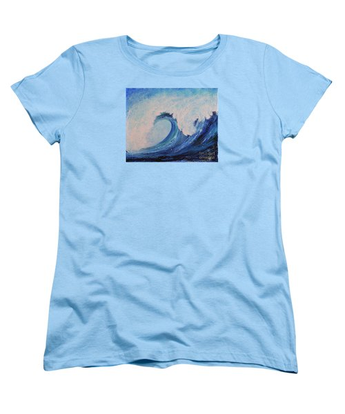 Women's T-Shirt (Standard Cut) featuring the painting Surf No.2 by Teresa Wegrzyn