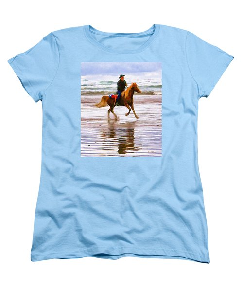 Women's T-Shirt (Standard Cut) featuring the photograph Surf Rider by Wendy McKennon