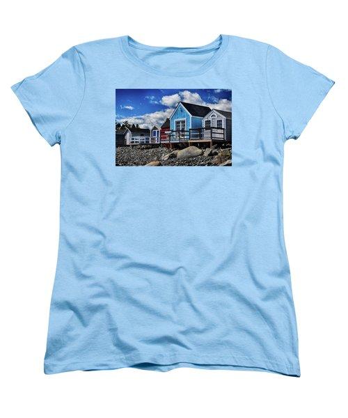 Surf Shacks Women's T-Shirt (Standard Cut) by Tricia Marchlik