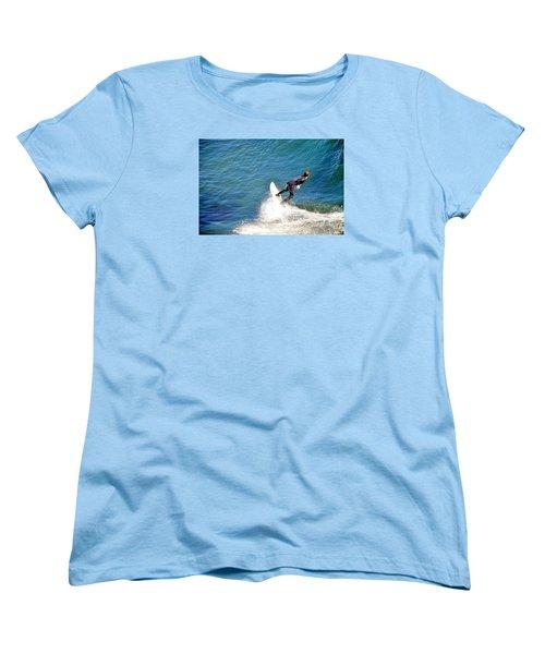 Surfer, Steamer Lane, Santa Cruz, Series 19 Women's T-Shirt (Standard Cut) by Antonia Citrino