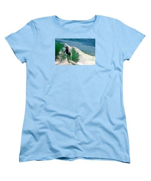 Surfer, Steamer Lane, Series 18 Women's T-Shirt (Standard Cut) by Antonia Citrino