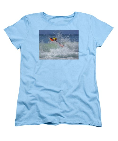Surfing Dog Women's T-Shirt (Standard Cut) by Thanh Thuy Nguyen
