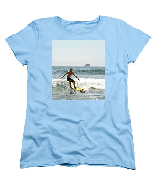 Women's T-Shirt (Standard Cut) featuring the photograph Surfing New Zealand Waves by Yurix Sardinelly
