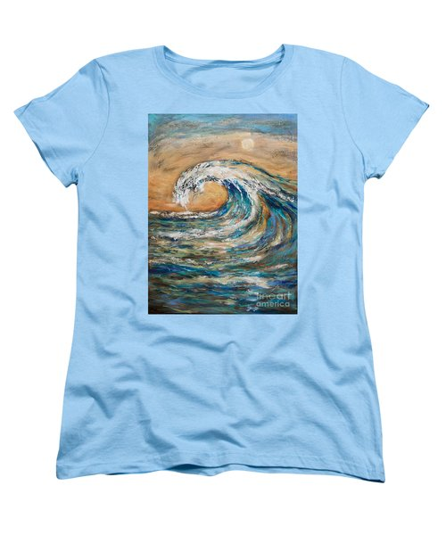 Women's T-Shirt (Standard Cut) featuring the painting Surf's Up by Linda Olsen