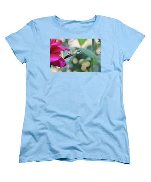 Women's T-Shirt (Standard Cut) featuring the photograph Surprise At The Rose by Debby Pueschel