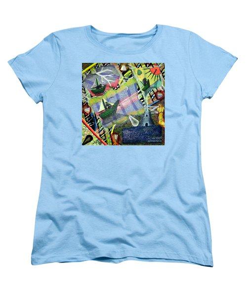 Surrealism Of The Souls Women's T-Shirt (Standard Cut) by Luke Galutia