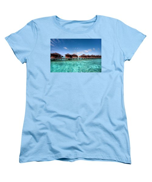 Women's T-Shirt (Standard Cut) featuring the photograph Surrounded By Blue by Jenny Rainbow