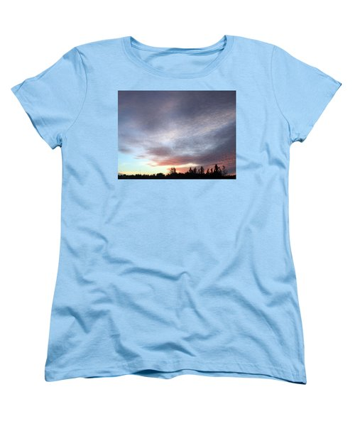 Suspenseful Skies Women's T-Shirt (Standard Cut) by Audrey Robillard