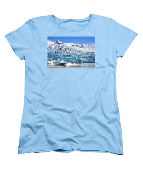 Svinafellsjokull Glacier Iceland Women's T-Shirt (Standard Cut) by Matthias Hauser