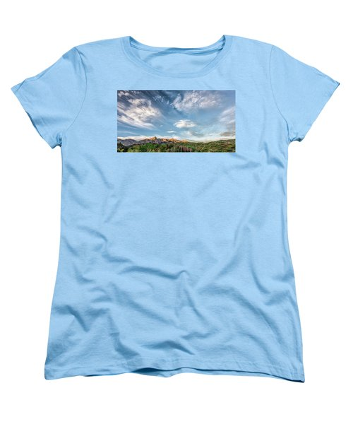 Women's T-Shirt (Standard Cut) featuring the photograph Sweeping Clouds by Jon Glaser